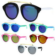 Girls Kids Size Color Mirror Plastic Horned Rim Metal Top Bridge Sunglasses - $9.95