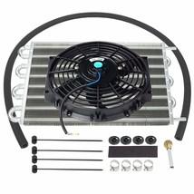 "Aluminum 15-1/2"" Transmission Oil Cooler w/ 10"" Cooling Radiator Fan Kit - $63.89"