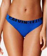 Calvin Klein Seamless Logo Bikini Panty Blue QF1569 size XS  - $7.44