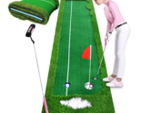Portable 3m Indoor Golf Putting Green Swing Trainer Set Home Golf Training Lawn  - €204,99 EUR