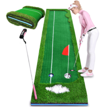 Portable 3m Indoor Golf Putting Green Swing Trainer Set Home Golf Training Lawn  - $264.99