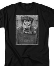 DC Comics The Joker Mug Shot Graphic Tee Retro Suicide Squad Batman BM2556B image 3