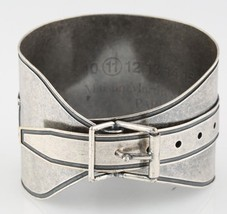 "Mason Martin Margiela Silver-Plated Adjustable Buckle Bracelet 8"" 73.8 g - $320.76"