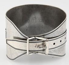 "Mason Martin Margiela Silver-Plated Adjustable Buckle Bracelet 8"" 73.8 g - $356.40"