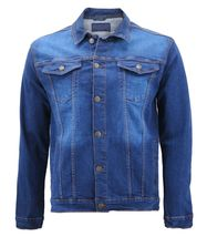 Men's Classic Button Up Removable Hood Slim Fit Stretch Denim Jean Jacket image 13