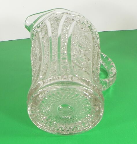 Imperial Vintage Glass DAISY AND BUTTON Water Pitcher Set with 7 Tumbler (s) image 7
