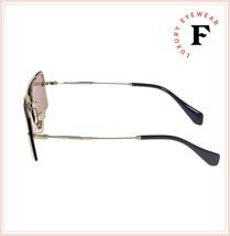 MIU MIU SOCIETE MU59TS Pale Gold Pink Square Rimless Special Sunglasses 59T image 2