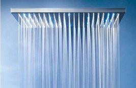 Noble Enjoy 31inch Large Luxury Rectangular Brushed Stainless LED Shower Head - $623.65