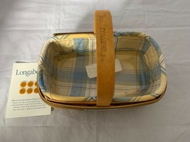 2001 Longaberger Bee Basket Combo Liner Plastic Protector Signed By Tamm... - $74.79