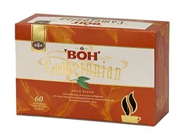 Gift BOH Cameronian Premium Black Tea Bags Gold Blend 60 count High Caff... - $12.96