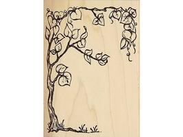 Bugawumps 1997 Tree Rubber Stamp #342J