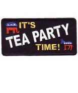 Embroidered Patch It's Tea Party Time! Patch - $3.95