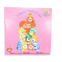 Care Bears A World Made of Love Book and Record Talking Story Book Vinta... - $14.03