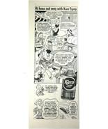 Karo Syrup Vintage Print Ad 1956 Stan Randall Comic Strip At Home and Aw... - $8.86