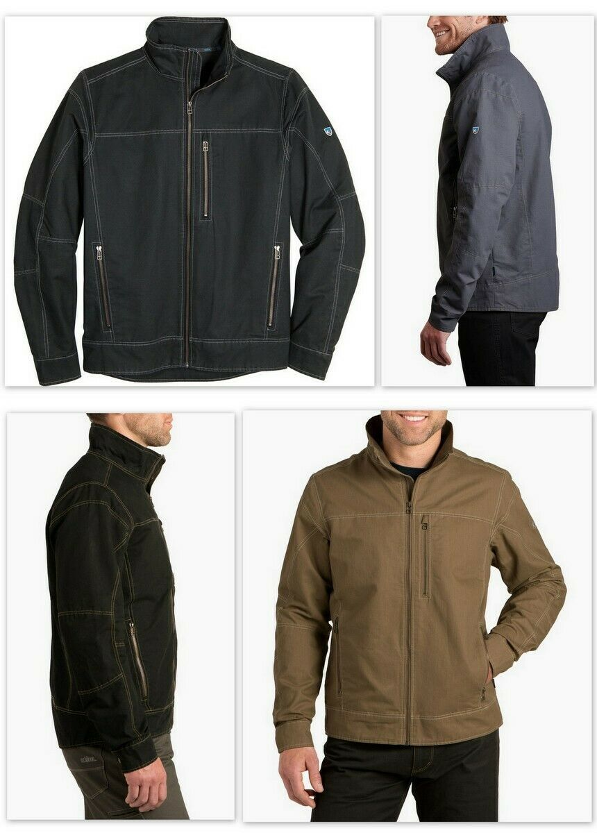 Primary image for Kuhl Burr Men's Jacket 1052 Raven, Espresso, Gun Metal or Khaki Color Size S-L