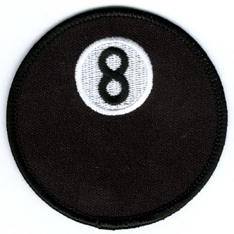Embroidered Patch Eight Ball Patch