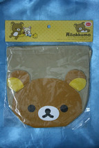Rilakkuma Relax Bear San-X Brown Drawstring Bag Pouch - $19.99