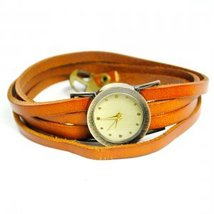 Vintage Weave Wrap Leather Long Bracelet Quartz Wrist Watch Women Men - $20.00