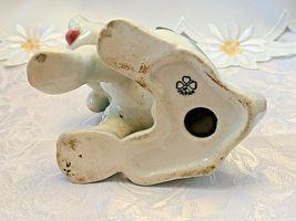 "Vintage Beagle Type Dog Figurine Porcelain Japan Grey White5"" Tall image 5"