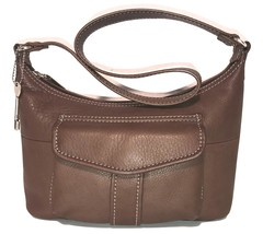 Fossil ~ Soft Brown Pebble Leather Shoulder Bag w/ Flap Pocket Front - $29.68