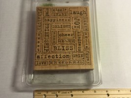"Stampin Up 2005 ""Word By Word"" 1 Large Wood Block Stamp Crafting - $9.64"