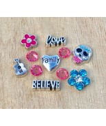 Floating Charms Sugar Skull Coco Guitar 11pc fit Origami Glass Memory Lo... - $7.16