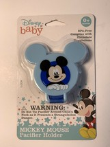New In Pack Disney Baby Blue Mickey Mouse Pacifier Holder - $6.97