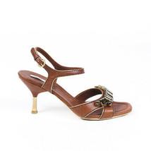 Miu Miu Crystal Leather Sandals SZ 38.5 - $85.00
