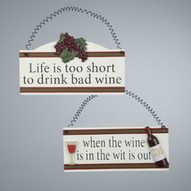 "Tuscan Winery ""When the Wine is in the Wit is Out"" Christmas Ornament Pl... - $5.68"