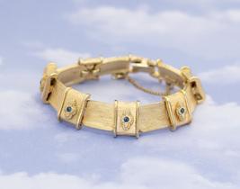 Vintage Gold-Tone Crossbelt Statement Bracelet 7 inches by BSK H3 - $29.99