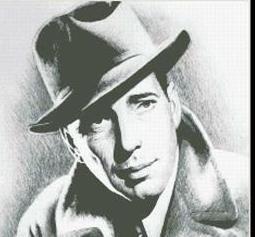 Hollywood Greats Bogart cross stitch chart Mystic Stitch