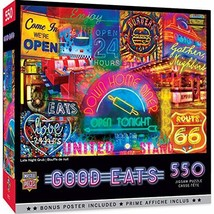 MasterPieces Good Eats! Puzzles Collection - Late Night Grub 550 Piece Jigsaw Pu - $19.27