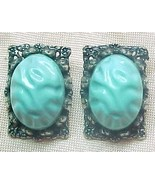 Turquoise Nugget earrings cb BIG BOLD HUGH - $6.00