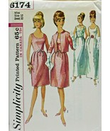 Vintage 1960s Simplicity Sewing Pattern 6174 Dress Top Jacket Size 12 32B - $16.19