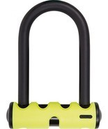 Abus Mini Round Shackle U Lock, 5.5'/15mm, Yellow - £51.92 GBP