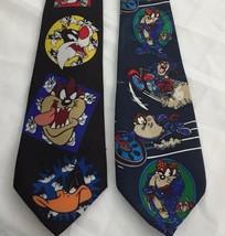 Looney Tunes Tie Necktie Bugs Bunny Daffy Duck Tasmanian Devil Sylvester... - $14.80