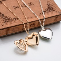 Stylish Necklace Women Kolye Heart Photo Frame Necklace Pendant Lady Jew... - $7.62
