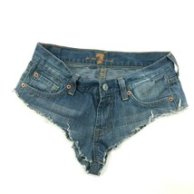 7 For All Mankind Cut Off Shorts Size 26 Daisy Dukes Distressed CHEEKY D... - $24.48
