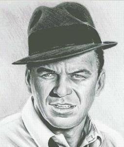 Hollywood Greats Ole Blue Eyes Frank Sinatra cross stitch chart Mystic Stitch