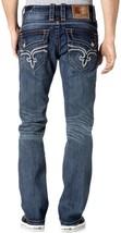 NEW ROCK REVIVAL MEN'S PREMIUM STRAIGHT LEG DENIM JEANS KAELEN A400 PR1534A400