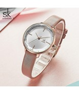 SK® Watches Women Fashion Girl Quartz Watch Lady Leather Strap High Quality - $24.06
