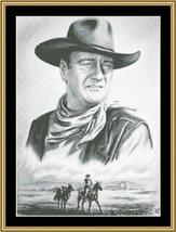 Hollywood Greats John Wayne cross stitch chart Mystic Stitch - $14.40