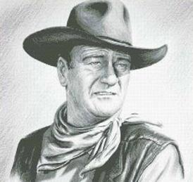 Hollywood Greats John Wayne cross stitch chart Mystic Stitch