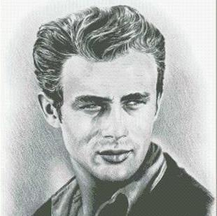Hollywood Greats James Dean cross stitch chart Mystic Stitch