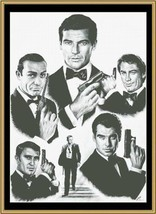 Hollywood Greats Licensed to Kill James Bond cross stitch chart Mystic Stitch - $14.40