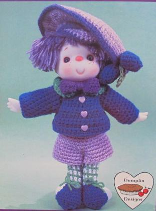 Primary image for PLUM PRESERVES DOLL Crochet Patterns LOLLIPOP LANE Dumplin Designs VINTAGE