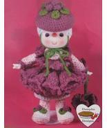 RASPBERRY FLUFF DOLL Crochet Patterns LOLLIPOP LANE Dumplin Designs VINTAGE - $6.95