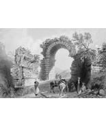 TURKEY Cilician Roman Gates near Iskenderun - 1839 Antique Print by Bart... - $14.92