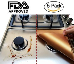 5-PACK Non-stick Stove Burner Covers - Adorrgon Reusable and Durable Cop... - $7.51