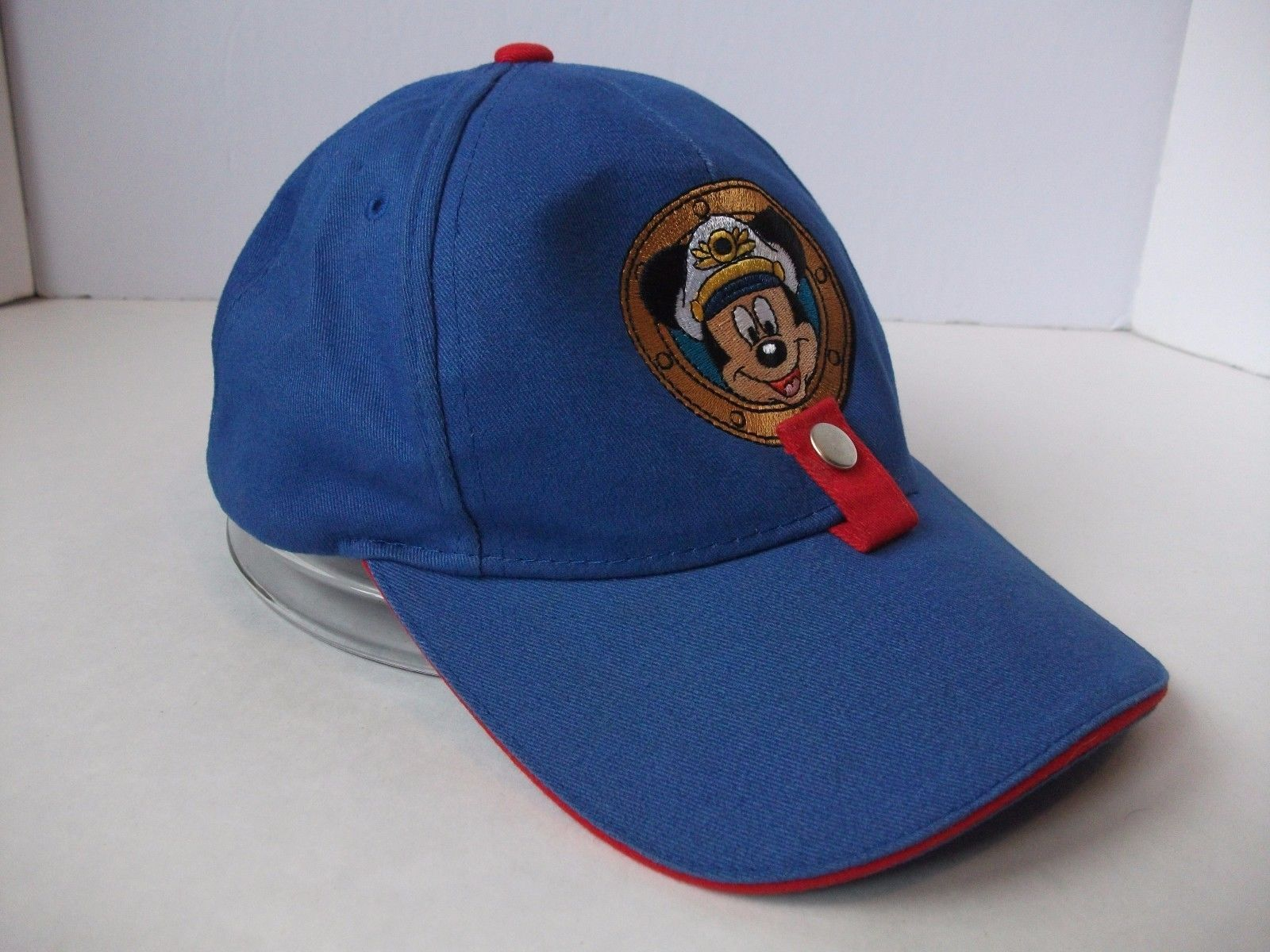 Primary image for Disney Cruise Line Mickey Mouse Hat Blue Hook Loop Baseball Cap w/ Sunglass Snap